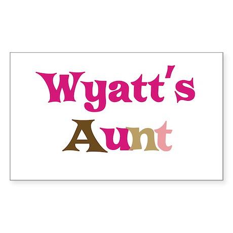 Wyatt's Aunt Rectangle Sticker
