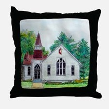 Clinton OH Methodist Church Throw Pillow