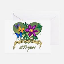 Beautiful 99th Greeting Card