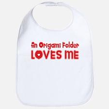 An Origami Folder Loves Me Bib