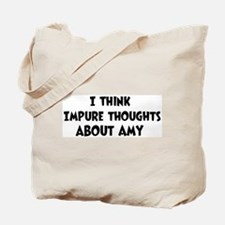 Amy (impure thoughts} Tote Bag