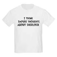 Sherlock (impure thoughts} T-Shirt