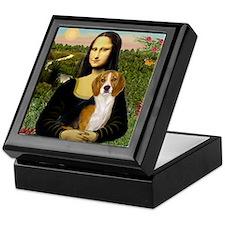 Mona Lisa & Beagle Keepsake Box