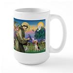 Saint Francis / Beagle Large Mug