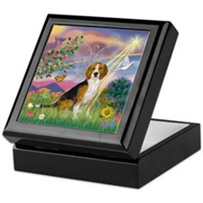 CloudAngel-Beagle Keepsake Box