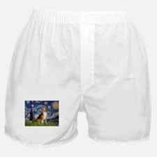 Starry Night & Beagle Boxer Shorts