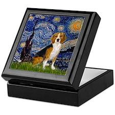 Starry Night & Beagle Keepsake Box