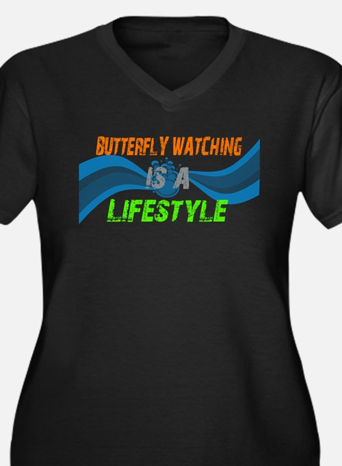 butterfly watching lifestyle Women's Plus Size V-N