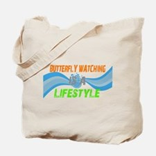 butterfly watching lifestyle Tote Bag
