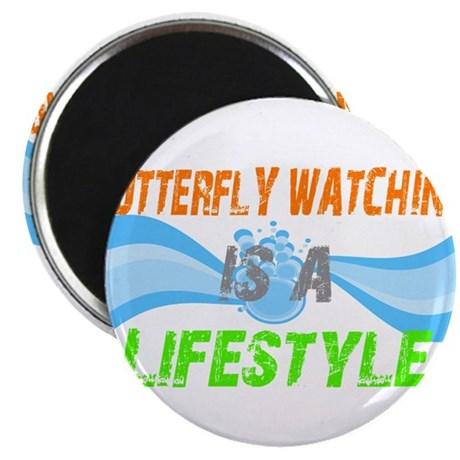 butterfly watching lifestyle Magnet