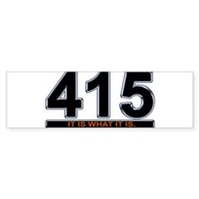 415 Bumper Sticker - Black/Slvr