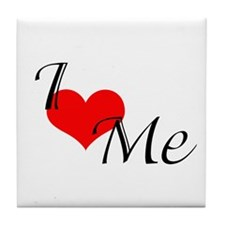 I Heart Me 2 Tile Coaster