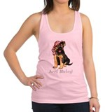 German shepherd pirate Womens Racerback Tanktop