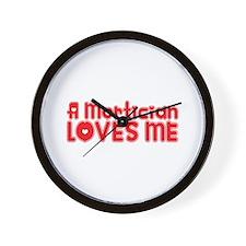 A Mortician Loves Me Wall Clock