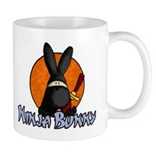 Ninja Bunny Small Mug