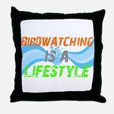 Unique Loves bird watching Throw Pillow