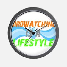 Cute Birdwatching lifestyle Wall Clock