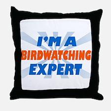 Cute Loves bird watching Throw Pillow