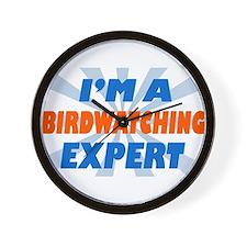 Cute Birdwatching expert Wall Clock