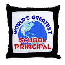 World's Greatest Schoo.. (E) Throw Pillow