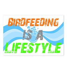 Cute Feed birds Postcards (Package of 8)