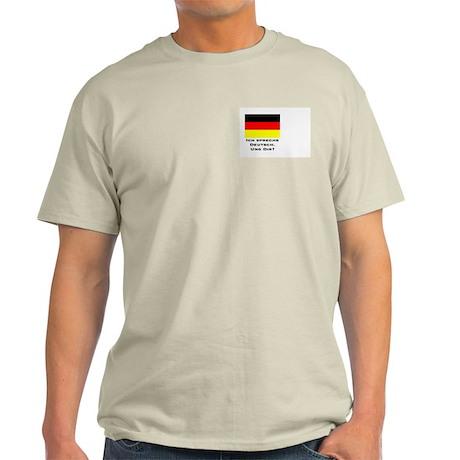 Speak German/Ash Grey T-Shirt