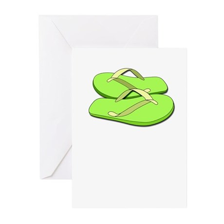 Flip Flop Greeting Cards (Pk of 10)