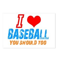 I love baseball Postcards (Package of 8)