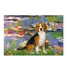 Monet's Lilies & Beagle Postcards (Package of 8)