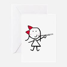 Girl & Flute Greeting Cards (Pk of 10)