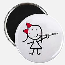 """Girl & Flute 2.25"""" Magnet (100 pack)"""
