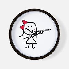 Girl & Flute Wall Clock