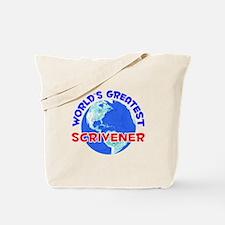 World's Greatest Scriv.. (E) Tote Bag