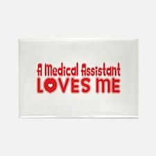 A Medical Assistant Loves Me Rectangle Magnet
