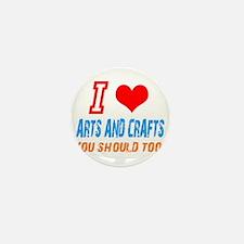 Cute Arts and crafts Mini Button (10 pack)