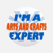 """Arts and crafts expert 3.5"""" Button (100 pack)"""