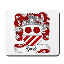 Bars Family Crest Mousepad