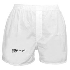 I Kiss Girls Boxer Shorts