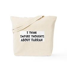 Farrah (impure thoughts} Tote Bag