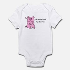 pigs are for lovin not the oven Infant Bodysuit