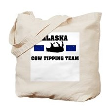 Alaska Cow Tipping Team Tote Bag
