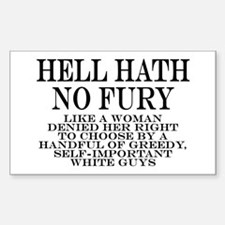 Hell Hath No Fury Sticker (Rectangle)
