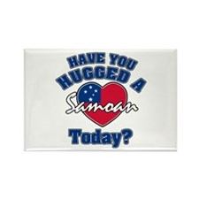 Have you hugged a Samoan today? Rectangle Magnet (