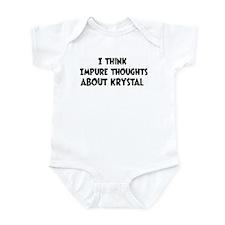 Krystal (impure thoughts} Infant Bodysuit