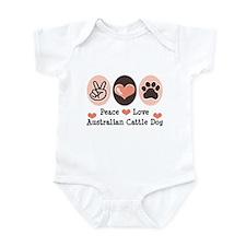 Peace Love Austalian Cattle Dog Infant Bodysuit
