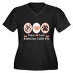 Peace Love Austalian Cattle Dog Women's Plus Size