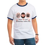 Peace Love Austalian Cattle Dog Ringer T