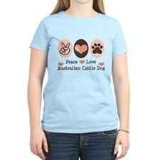 Peace Love Austalian Cattle Dog T-Shirt
