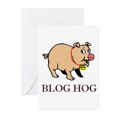 BLOG HOG Greeting Cards (Pk of 20)