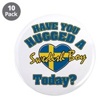 """Have you hugged a Swedish boy today? 3.5"""" Button ("""